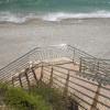 Escaleras accesos a calas en la costa norte