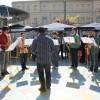 La banda jove amenizando la Fira