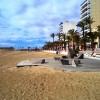 Las plataformas en la playa