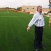 Visita a las obras de construcción de los campos de fútbol base