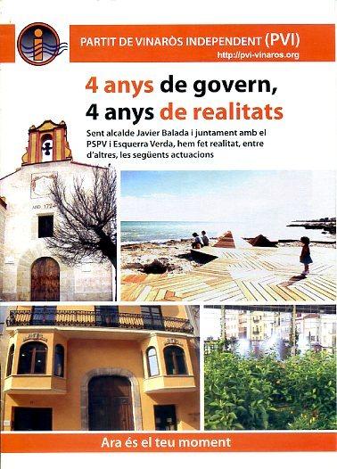 4 anys de govern i realitats 2007-2011