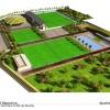 A la derecha la ubicación de la piscina cubierta en la Ciudad Deportiva