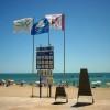 Banderas en la Platja del Fortí