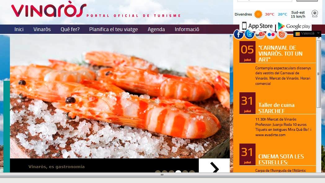 Enlace a la nueva página web de Turisme de Vinaròs