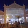 Imagen nocturna del mercado