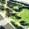 Vista del futuro parque del camí fondo
