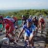 Vuelta 2009 pelotón subiendo a la ermita