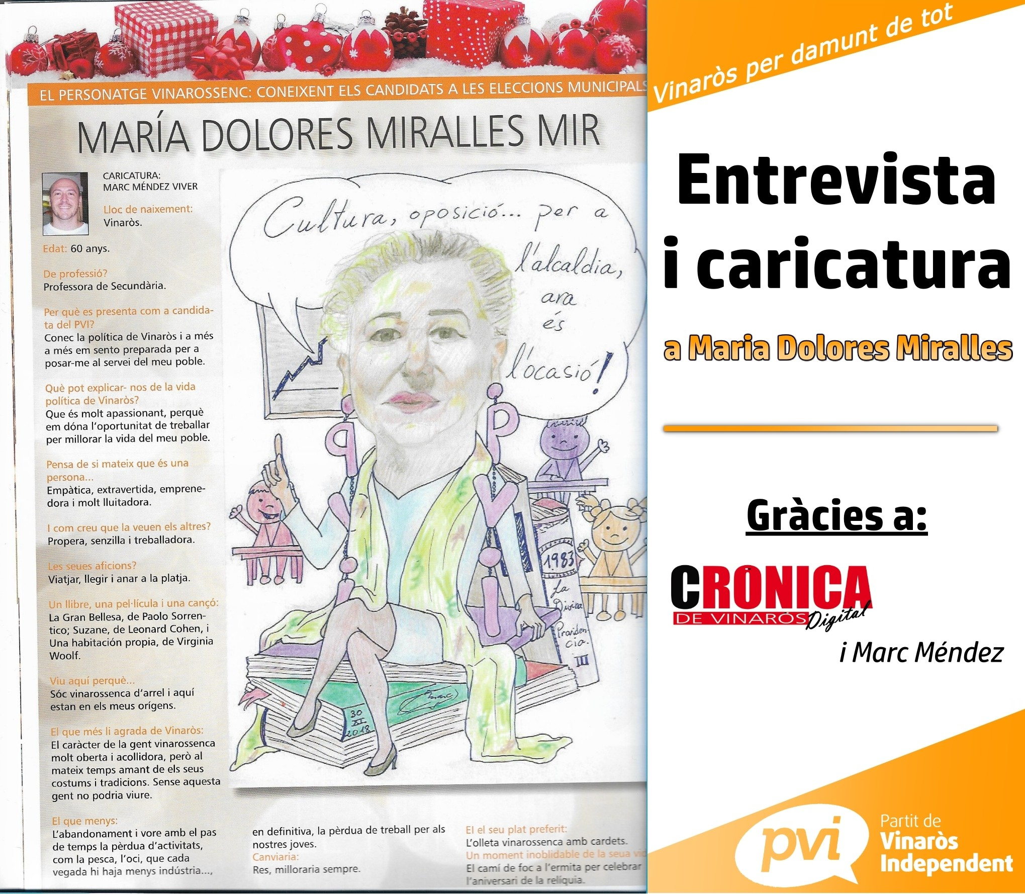 Maria Dolores caricatura cronica